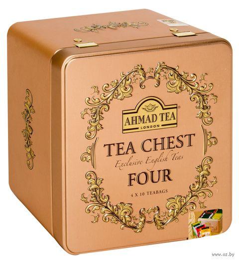 "Чай ""Ahmad Tea. Tea Chest Four"" (40 пакетиков; ассорти) — фото, картинка"