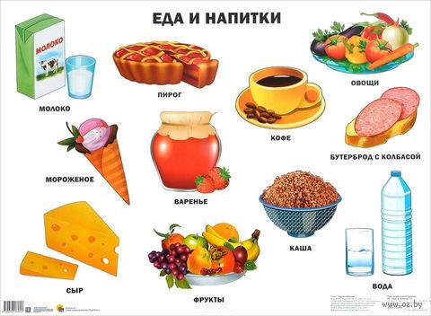 Еда и напитки. Плакат — фото, картинка
