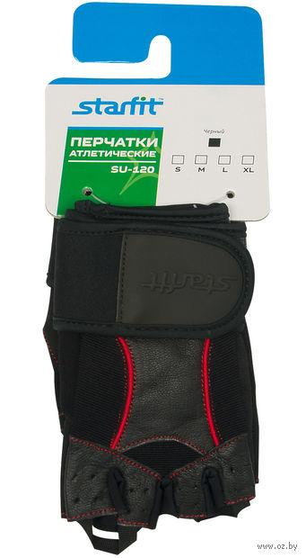 Перчатки атлетические SU-120 (S; чёрные) — фото, картинка
