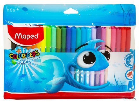 """Набор фломастеров цветных """"Color Peps Ocean"""" (24 цвета)"""