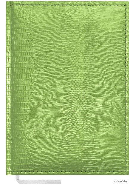 """Ежедневник недатированный """"Reptile"""" (А5; 160 листов; салатовый)"""