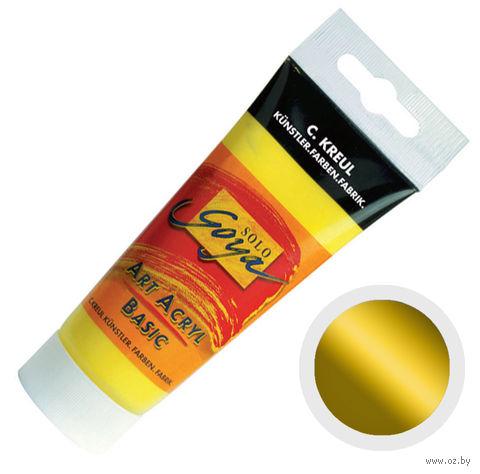 """Краска акриловая матовая """"Solo Goya Basic"""" 28 (100 мл; золото; металлический эффект)"""