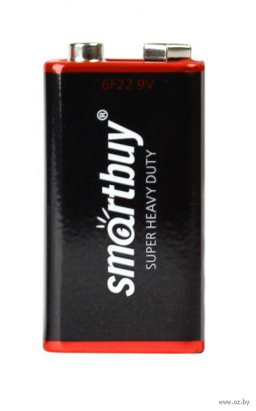 Батарейка солевая крона Smartbuy 6F22/1S (10/400)  (SBBZ-9V01S)