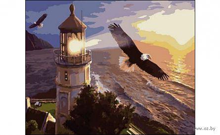 """Картина по номерам """"Орлы и маяк"""" (400x500 мм) — фото, картинка"""