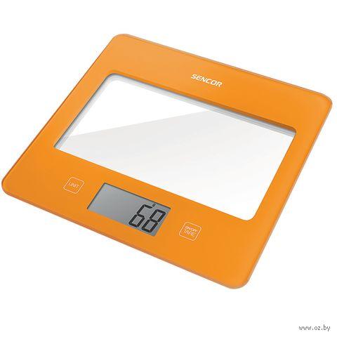 Кухонные весы Sencor SKS 5023OR (оранжевые) — фото, картинка