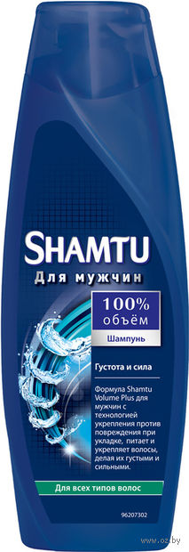 """Шампунь SHAMTU """"Густота и сила"""" для мужчин для ослабленных волос (360 мл)"""