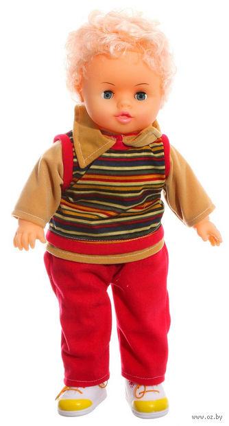 Кукла в полосатом костюмчике