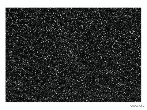 """Фольга для декорирования ткани """"Черный"""" (296х204 мм)"""