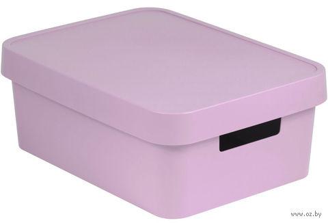 Ящик для хранения с крышкой (11 л; розовый)