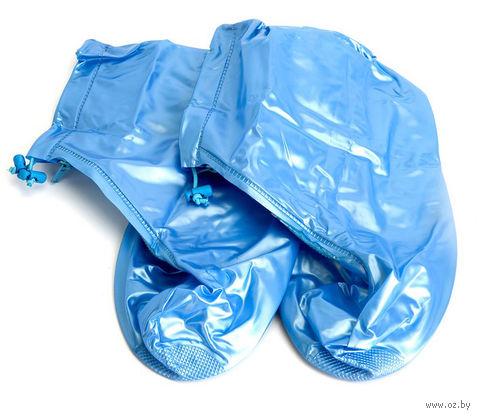Чехлы грязезащитные для обуви (M; голубой) — фото, картинка