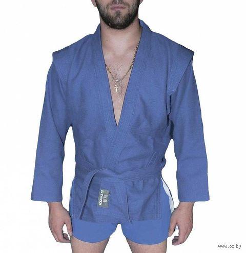 Куртка для самбо AX5 (р. 36; синяя; без подкладки) — фото, картинка