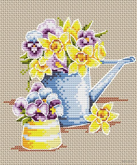 "Вышивка крестом ""Феерия цветов"" (180х150 мм) — фото, картинка"