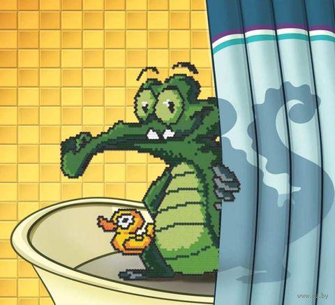 "Алмазная вышивка-мозаика ""Крокодильчик"" (330х360 мм) — фото, картинка"