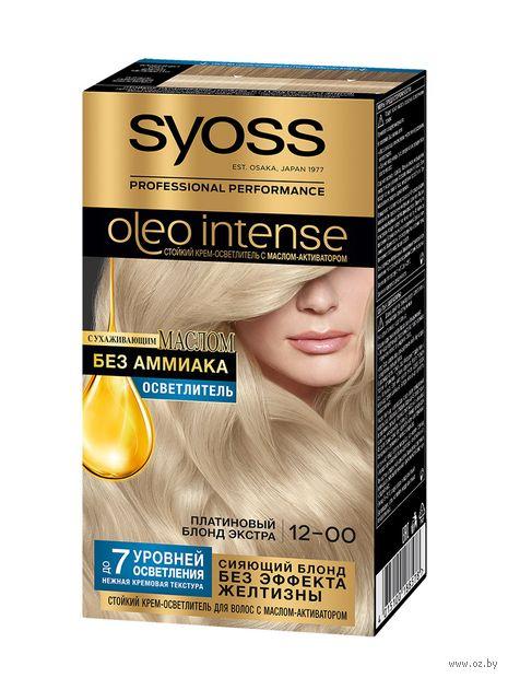 """Крем-осветлитель для волос """"Oleo intense"""" тон: 12-00, платиновый блонд экстра — фото, картинка"""