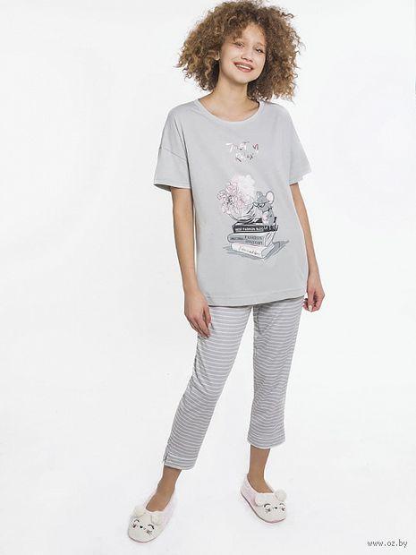 "Пижама женская ""592276"" (серый) — фото, картинка"