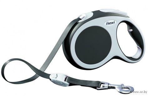 """Поводок-рулетка для собак """"Vario"""" (размер XS; до 12 кг; антрацит)"""