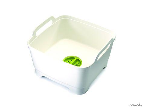 """Емкость для мытья посуды """"Wash&Drain"""" (бело-зеленая)"""