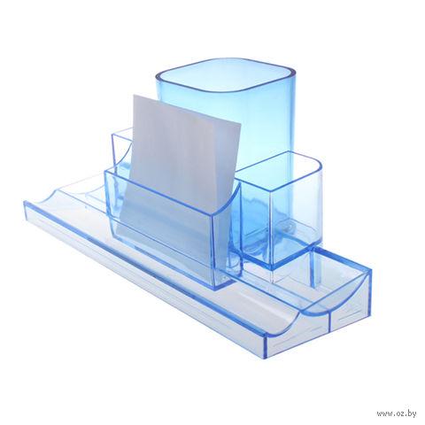 """Органайзер для рабочего стола """"Башня"""" (прозрачно-синий)"""