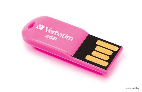 USB FlashDrive 8Gb Verbatim Micro Drive (розовая)