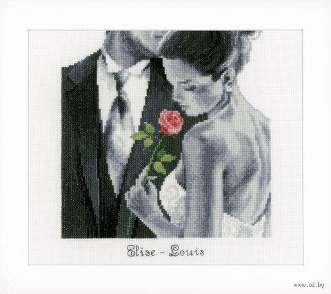 """Вышивка крестом """"Роза любви"""" (230x270 мм) — фото, картинка"""