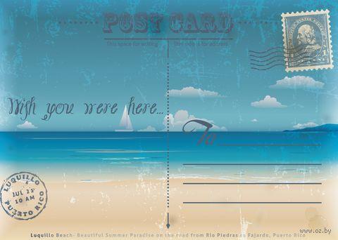 """Открытка """"Wish you were here"""" — фото, картинка"""