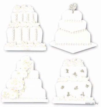 """Стикеры для скрапбукинга """"Джоли бутик. Свадебные торты"""" (арт. EKS-SPJB577)"""