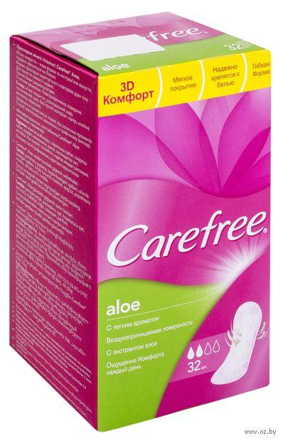 "Ежедневные прокладки ""Carefree Aloe"" (32 шт.) — фото, картинка"