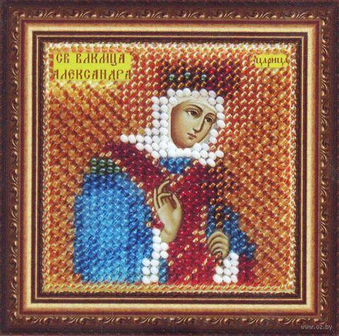 """Вышивка бисером """"Св. Мученица царица Александра Римская"""" (65х65 мм) — фото, картинка"""