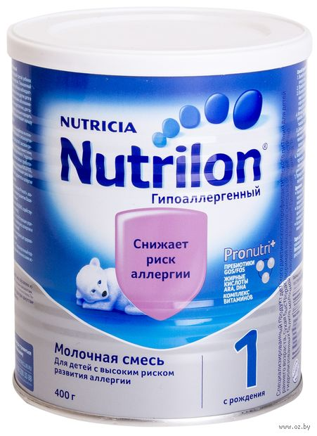 """Сухая молочная смесь Nutrilon """"Гипоаллергенная 1"""" (400 г) — фото, картинка"""