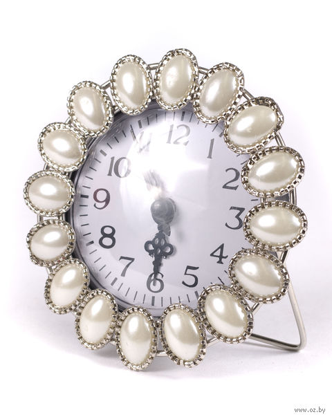 Часы настольные (белые; 11х11 см) — фото, картинка