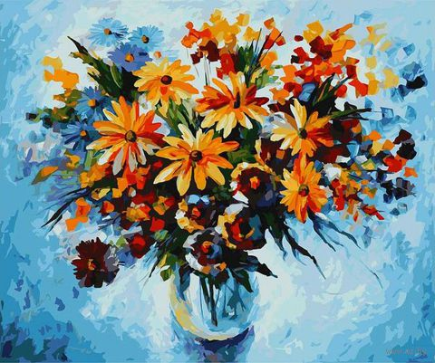 "Картина по номерам ""Разноцветные ромашки"" (500х600 мм)"