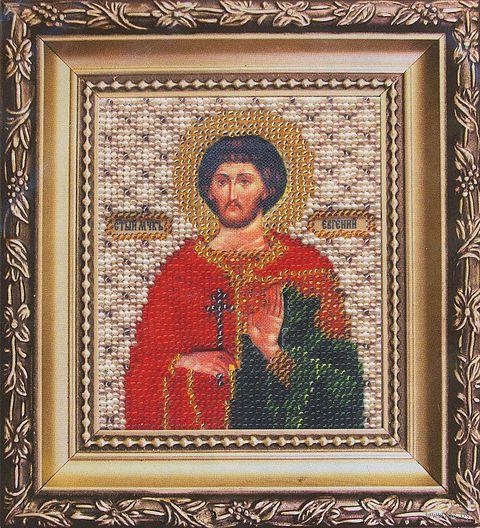 """Вышивка бисером """"Святой мученик Евгений"""""""