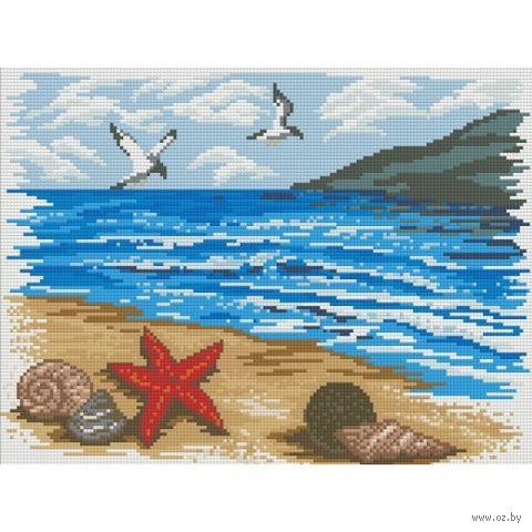 "Алмазная вышивка-мозаика ""Морской берег"" (400x300 мм) — фото, картинка"