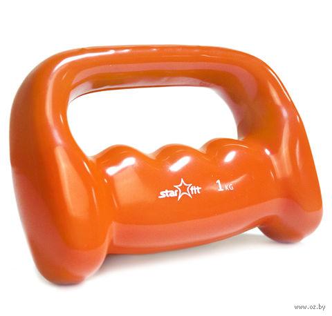 Гантель виниловая DB-103 (1 кг; оранжевая) — фото, картинка