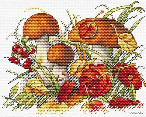 """Вышивка крестом """"Дары осеннего леса"""" (180х130 мм) — фото, картинка"""
