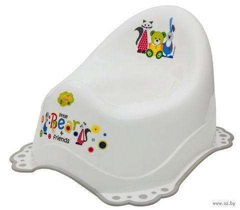 """Горшок пластмассовый детский """"Мишка и друзья"""" (белый) — фото, картинка"""