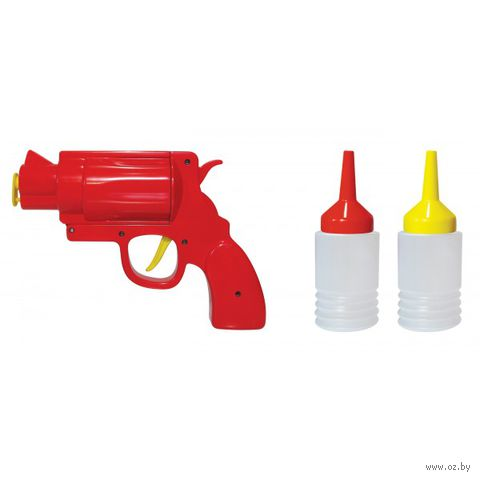 """Диспенсер для кетчупа и горчицы """"Condiment Gun"""" (красный)"""