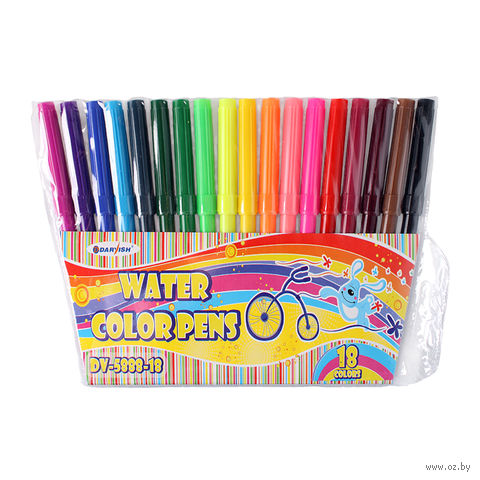 """Фломастеры """"Darvish"""" на водной основе (18 цветов; арт. DV-5888-18)"""