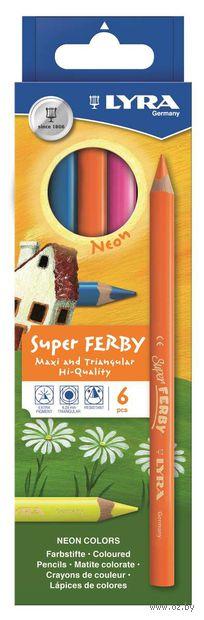 "Цветные карандаши ""SUPERFERBY NEON"" (6 цветов)"