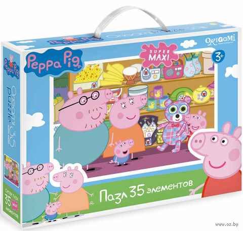"Пазл ""Свинка Пеппа. Магазин игрушек"" (35 элементов) — фото, картинка"