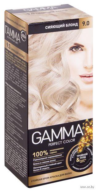 "Крем-краска для волос ""Gamma perfect color"" (тон: 9.0, сияющий блонд) — фото, картинка"