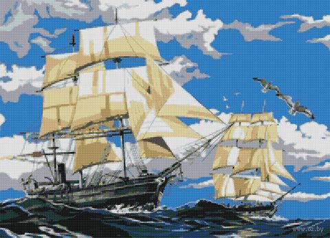 "Алмазная вышивка-мозаика ""Парусники"" (500х360 мм) — фото, картинка"