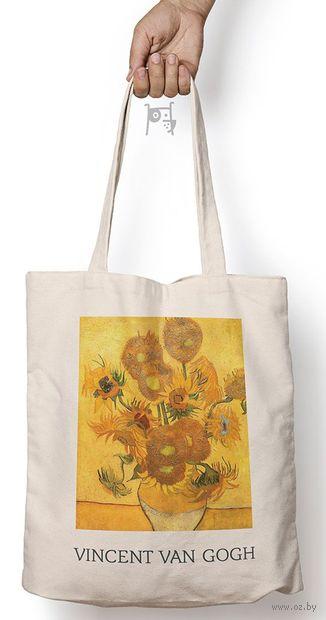 """Сумка-шоппер """"Ван Гог. Подсолнухи"""" — фото, картинка"""