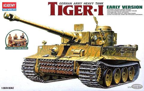 Немецкий тяжелый танк Pz.Kpfw.VI Tiger I (масштаб: 1/35) — фото, картинка