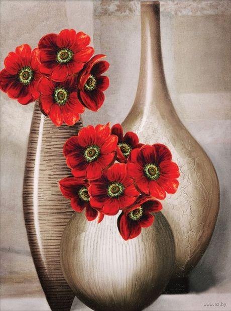 """Вышивка крестом """"Три вазы"""""""