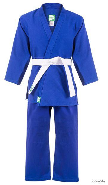 Кимоно дзюдо MA-302 (р. 3/160; синее) — фото, картинка