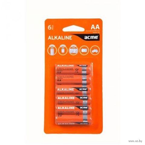 Батарея гальваническая щелочная LR6 AA (6 штук)