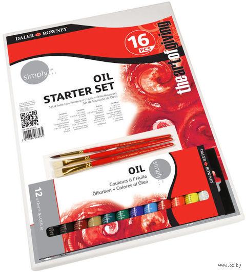 "Набор для рисования ""Starter 16"" (12 красок, 3 кисти, холст)"