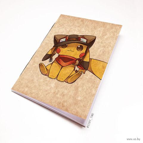 """Блокнот крафт """"Пикачу"""" (А7; арт. 937) — фото, картинка"""
