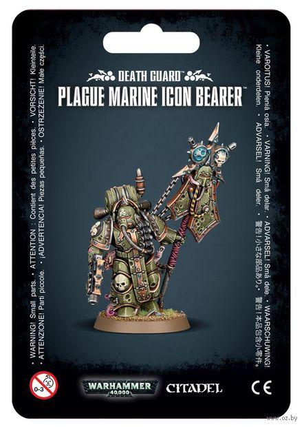 Warhammer 40.000. Death Guard. Plague Marines Icon Bearer (43-47) — фото, картинка